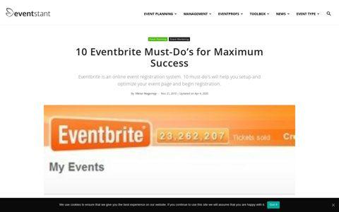 10 Eventbrite Must-Do's for Maximum Success | Eventstant