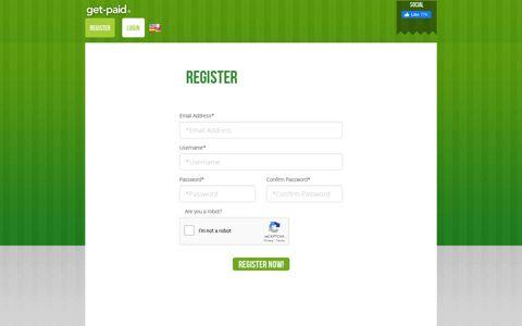 Register | Get Paid