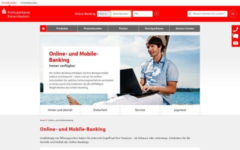 Online- und Mobile Banking   Kreissparkasse Kaiserslautern