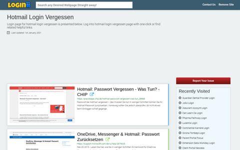 Hotmail Login Vergessen - Loginii.com
