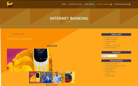 INTERNET BANKING – GCB Bank Limited