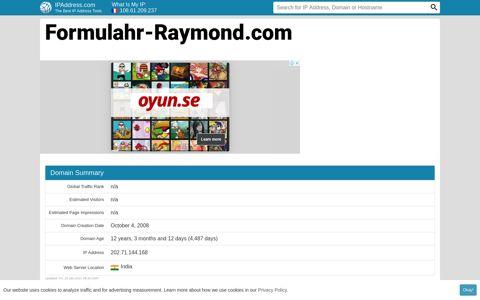 Formulahr Raymond: ▷ Formulahr-Raymond.com Website ...