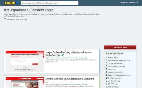 Kreissparkasse Eichsfeld Login - Loginii.com