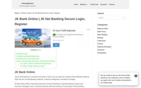 JK Bank Online | JK Net Banking Secure Login, Register