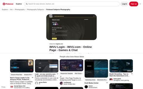 IMVU Login - Login to IMVU.com Online Page - Games & Chat ...