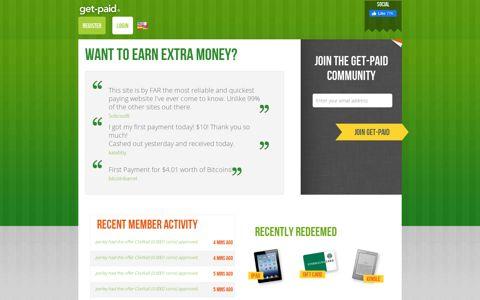 Make Money Online with Get Paid - (GPTreasure)