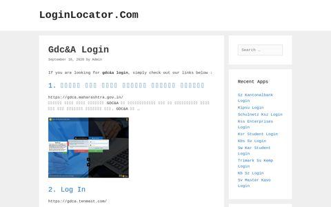 Gdc&A Login - LoginLocator.Com
