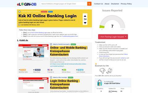 Ksk Kl Online Banking Login