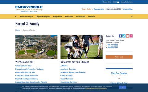 Parent & Family | Embry-Riddle Aeronautical University ...