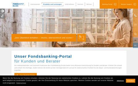 Online Portal   Fondsdepot Bank