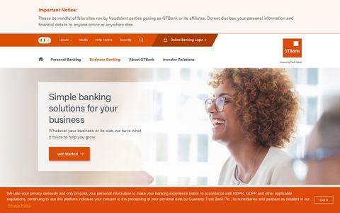 Business Banking - GTBank