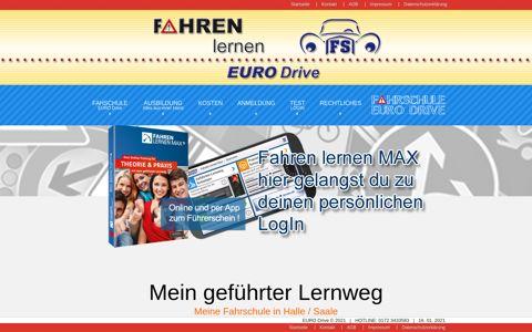 Fahren lernen Max LogIn - Fahrschule EURO Drive