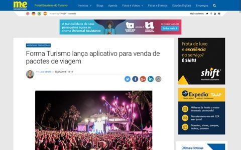 Forma Turismo lança aplicativo para venda de pacotes de ...