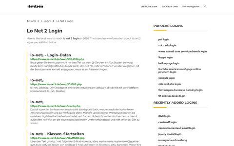 Lo Net 2 Login ❤️ One Click Access - iLoveLogin