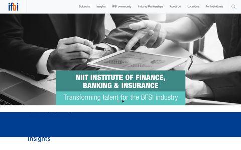IFBI | BFSI Training Solutions for Enterprises