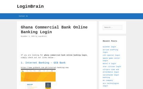 ghana commercial bank online banking login - LoginBrain