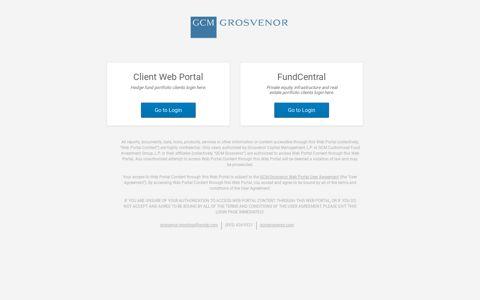 Client Login - GCM Grosvenor