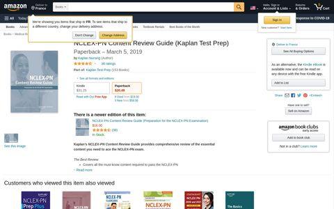 NCLEX-PN Content Review Guide (Kaplan Test Prep): Kaplan ...