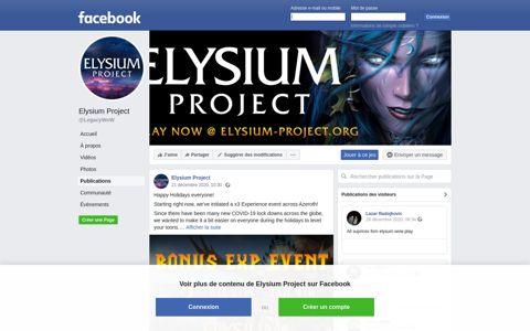 Elysium Project - Posts | Facebook