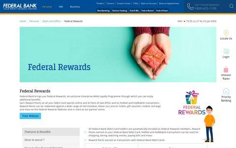 Federal Rewards - Debit Card Reward Points - Federal Bank