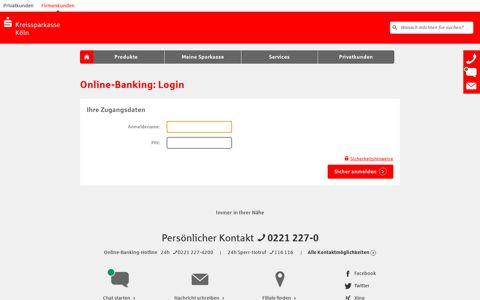 Login Online-Banking - Kreissparkasse Köln