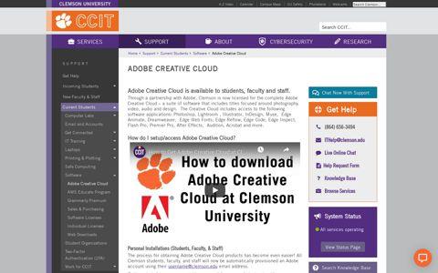 Adobe Creative Cloud | CCIT Web Site