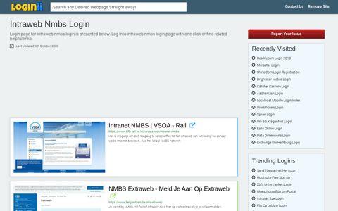 Intraweb Nmbs Login - Loginii.com