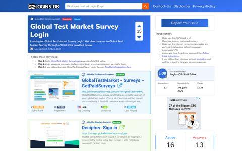 Global Test Market Survey Login - Logins-DB