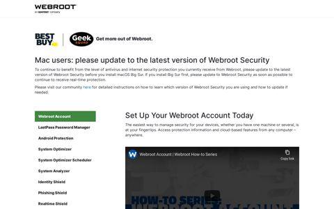Geek Squad Webroot Account Instructional Videos | Webroot