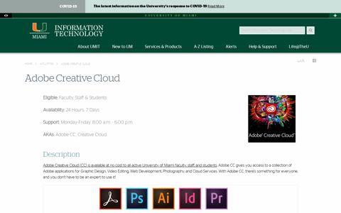 Adobe Creative Cloud - University of Miami Information ...