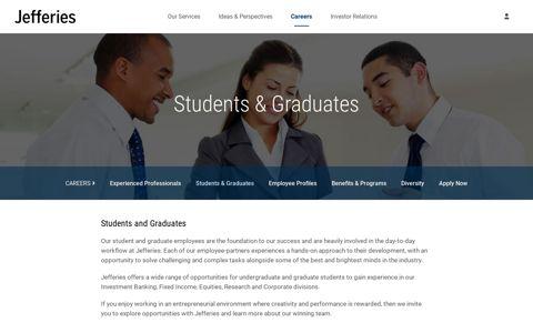 Campus Recruiting | Undergraduate and Graduate ... - Jefferies