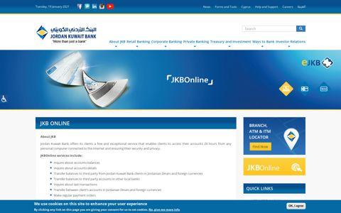 JKB Online | Jordan Kuwait Bank