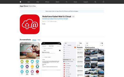 Vodafone Kabel Mail & Cloud im App Store