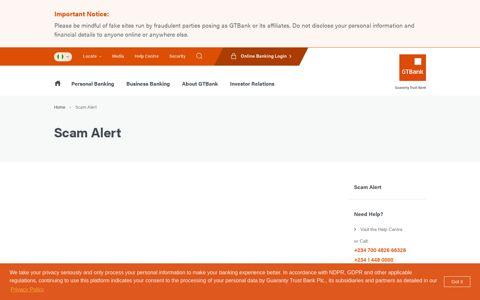 Scam Alert - GTBank