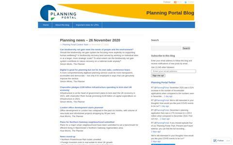 Planning news – 26 November 2020 | Planning Portal Blog