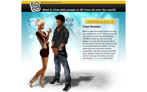 Visit a 3D Chat Room on the Best 3D Avatar Social ... - IMVU