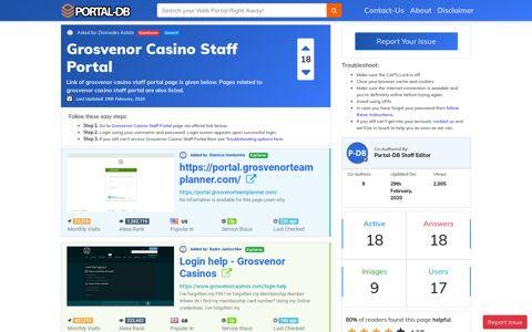 Grosvenor Casino Staff Portal