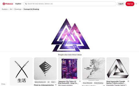 Trippy infinity triangle by gamerz123 | Triangle art, Triangle ...