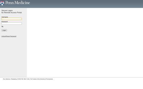 Remote Access Portal - University of Pennsylvania