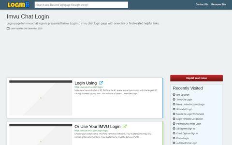 Imvu Chat Login | Accedi Imvu Chat - Loginii.com