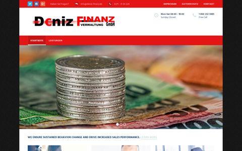 Deniz Finanz GmbH – WEIL ES SICH FÜR SIE RECHNET!