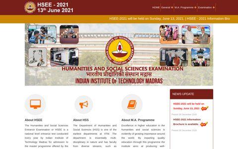 HSEE-2020 - IIT Madras