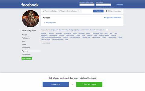 Jox money abel - About   Facebook