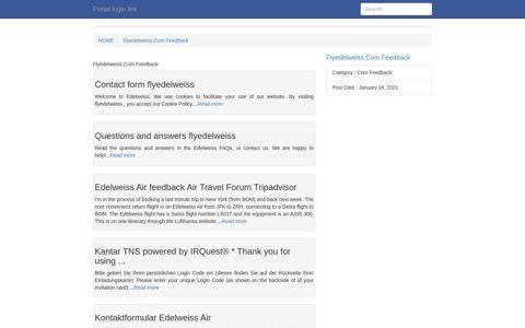 [LOGIN] Flyedelweiss Com Feedback FULL Version HD Quality ...