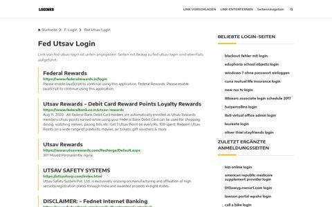 Fed Utsav Login | Allgemeine Informationen zur Anmeldung