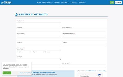 Register at GetPaidTo