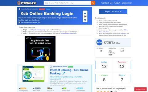 Kcb Online Banking Login - Portal-DB.live