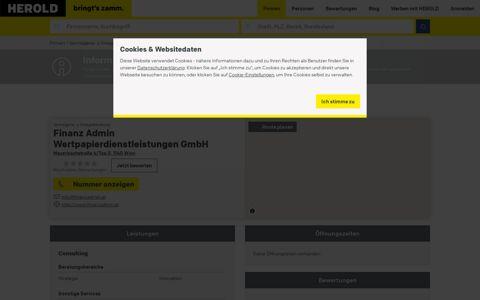 """""""Finanz Admin Wertpapierdienstleistungen GmbH"""", """"1140 ..."""