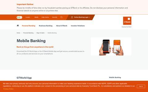 Mobile Banking - GTBank