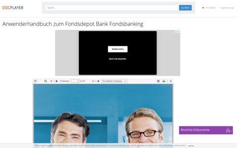 Anwenderhandbuch zum Fondsdepot Bank Fondsbanking ...